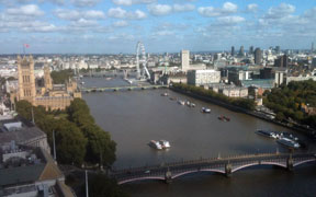 View over the Thames